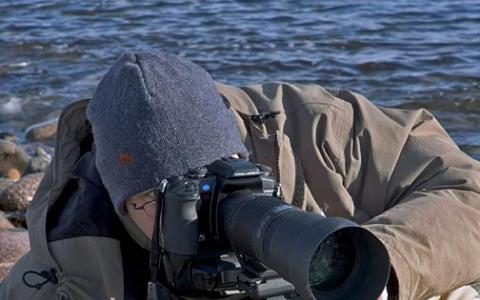 Myself and the Tokina 100-300mm close to the ground