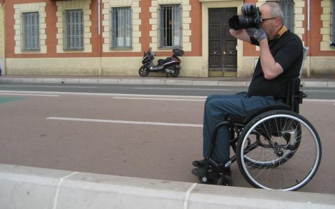 In the wheelchair shooting in Nice, France